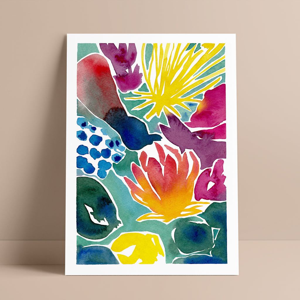 'My Florescence' — stunning floral abstract wall art