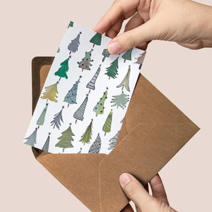 Christmas Trees — Luxury greeting card