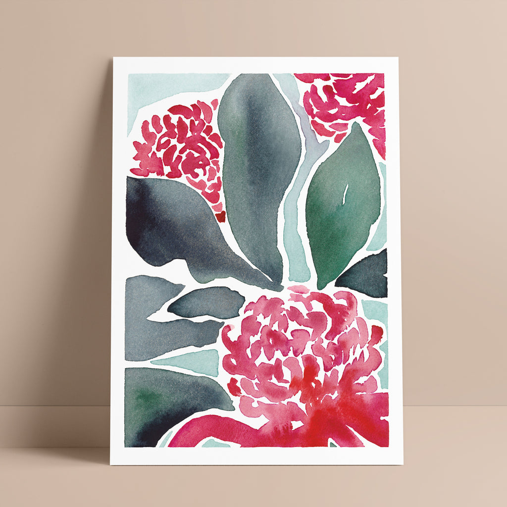 'Time to Bloom' — Beautiful Waratah Wall Art