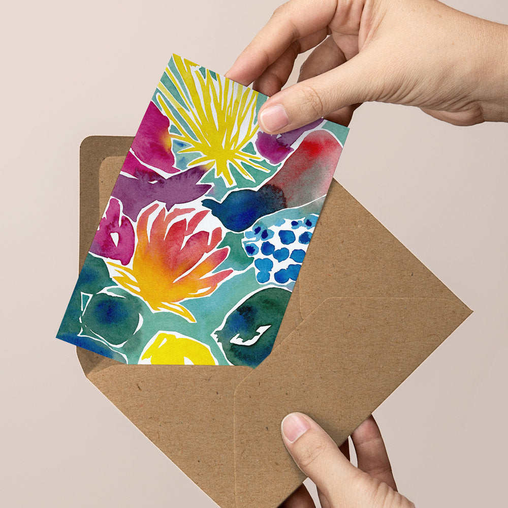'Florescence' — Abstract Floral Greeting Card
