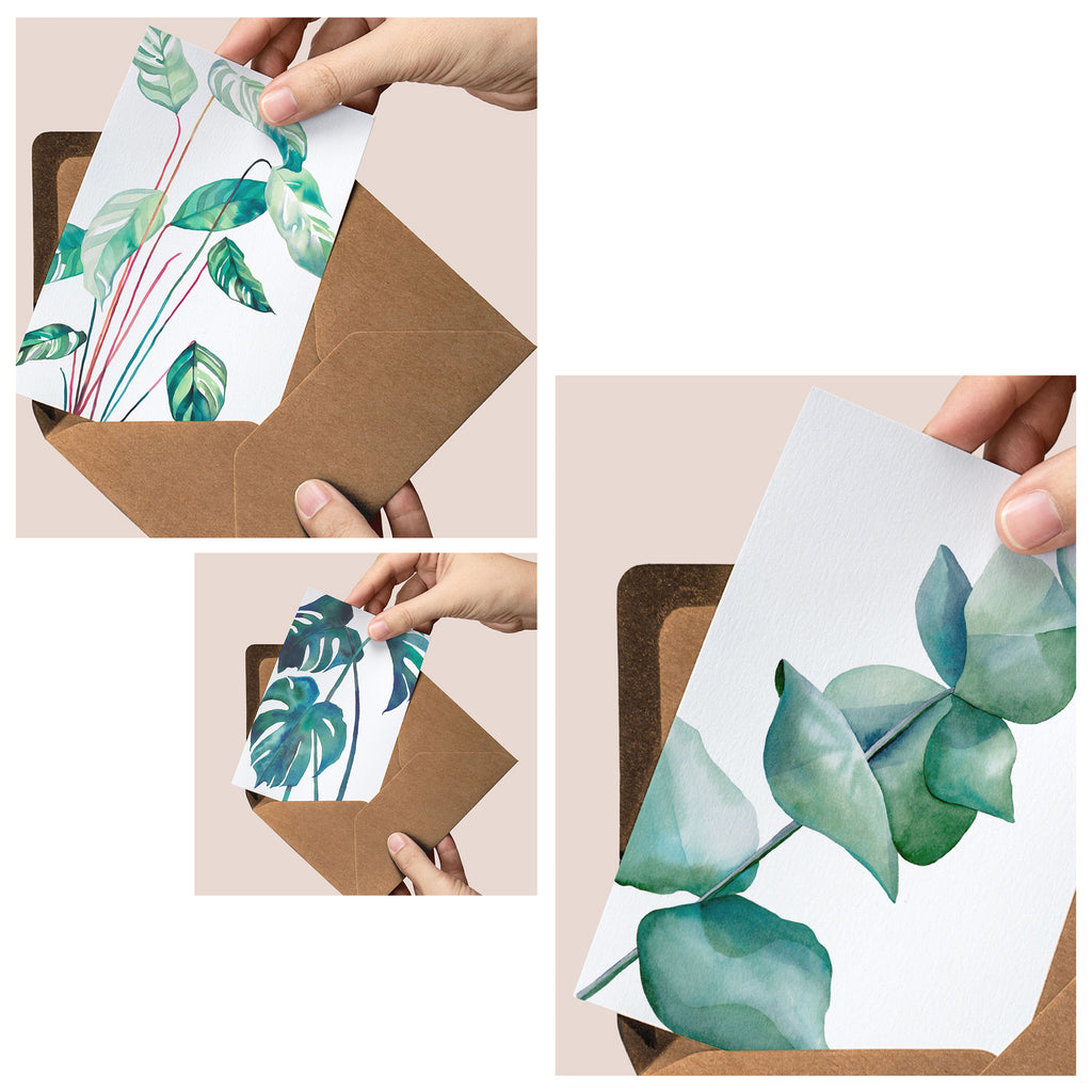 The Greenery — set of three luxury greeting cards
