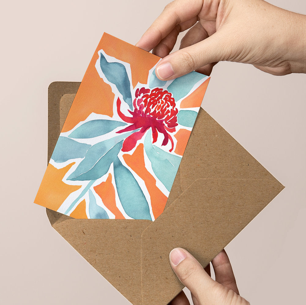 'Finding Strength — Bold greeting card