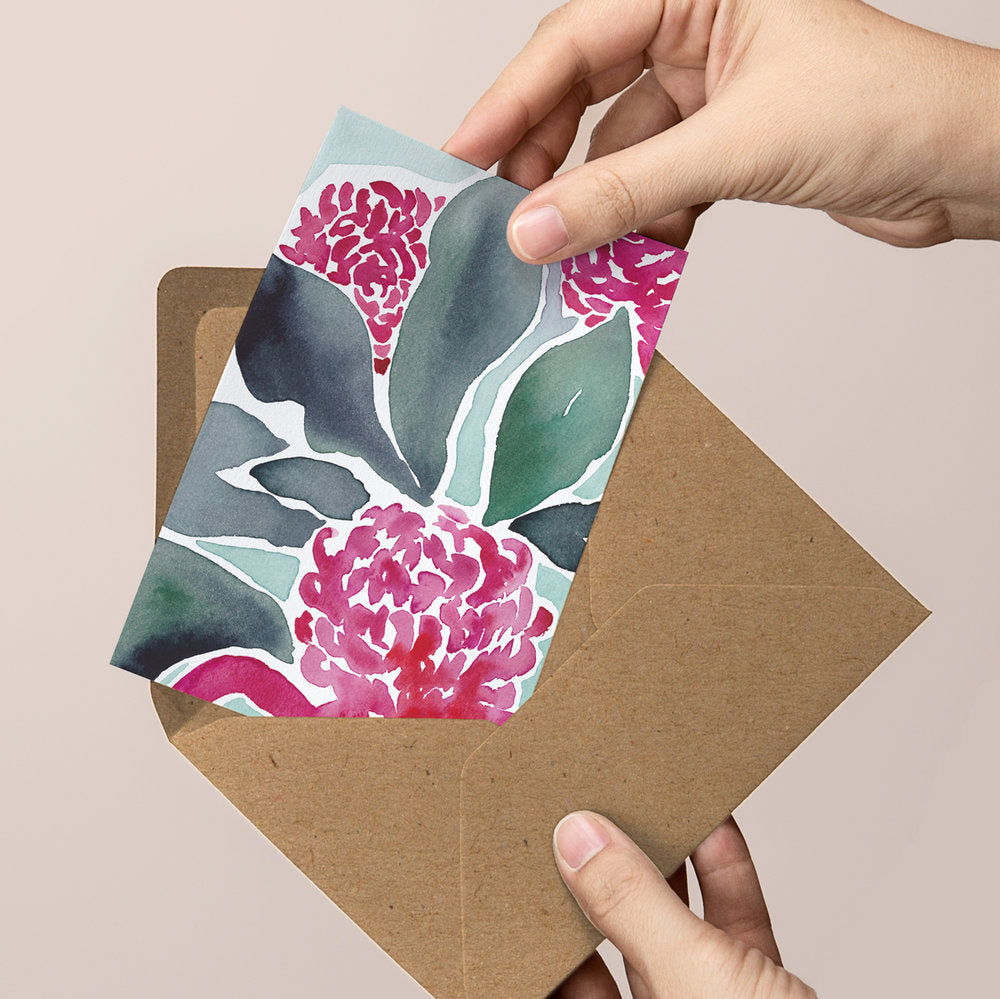 'Time to Bloom' — Botanical greeting card