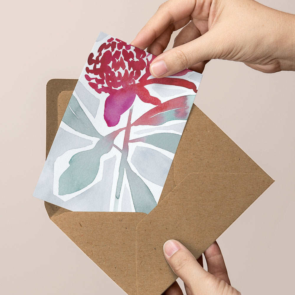 'Breathing Space' — Botanical greeting card