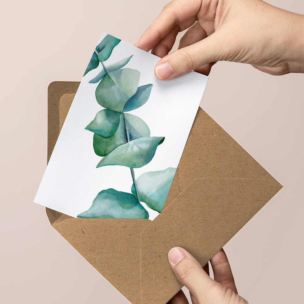 Set of 3 x Gum Leaf Greeting Cards