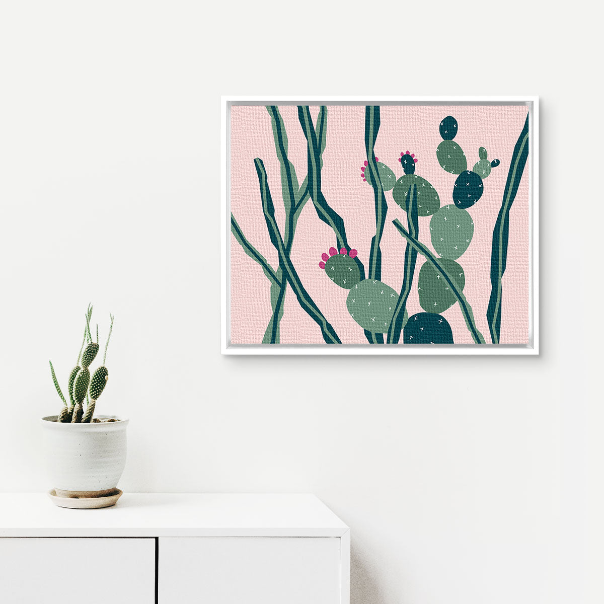 cactus nole creative framed canvas