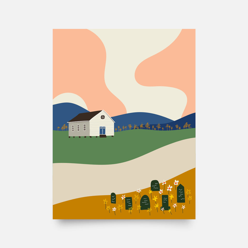 """Farm Retreat"" giclee art print - Nole Creative"