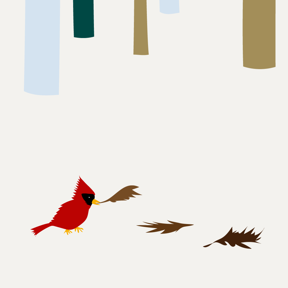 Cardinal in Winter - Nole Creative
