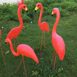 Lot-Flamants-Roses-Décoratifs-Plats