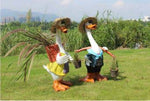 Animal décoratif de jardin <br> Duo de canards