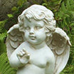 Statue ange <br> Duo d'anges heureux