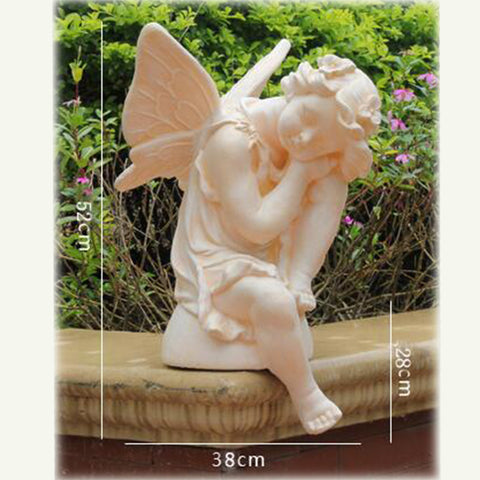 Statue ange <br> Sommeillant