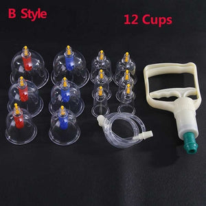 12 Set Vacuum Cupping Suction Therapy