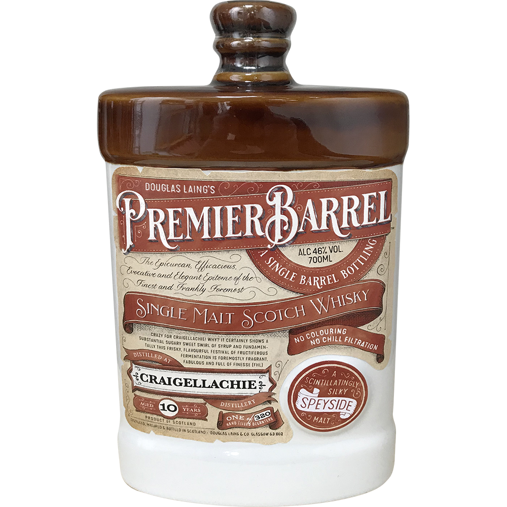 PREMIER BARREL SCOTCH  WHISKY CRAIGELLACHIE 10 ANI