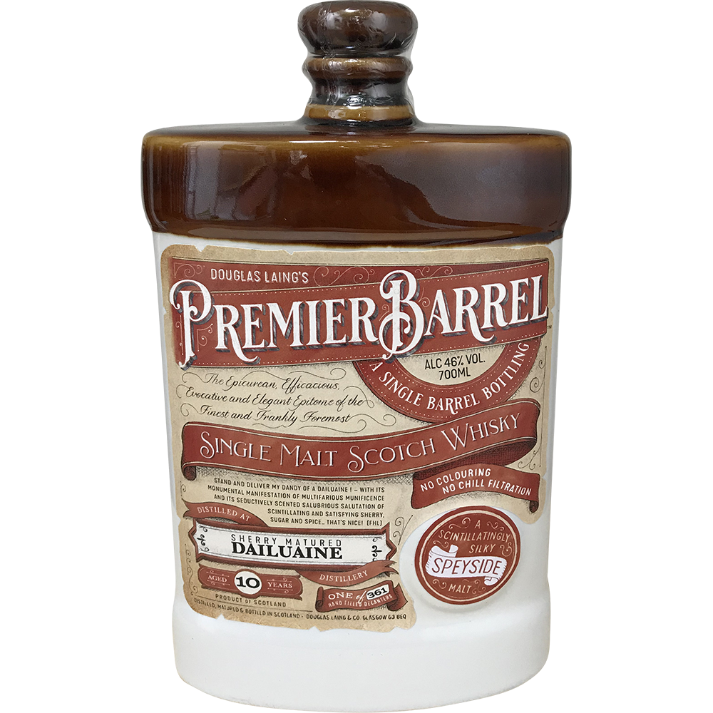 PREMIER BARREL SCOTCH  WHISKY DAILUAINE 10 ANI