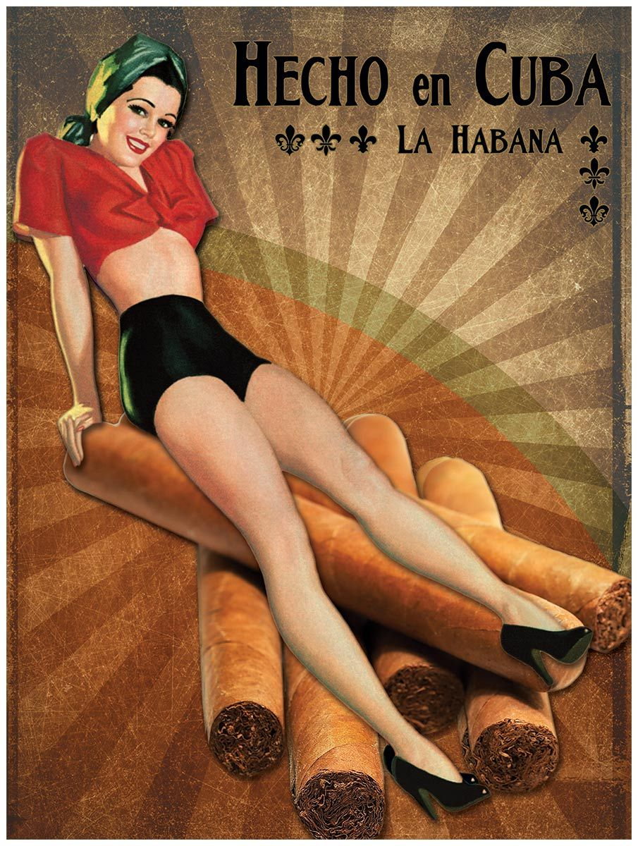Cuban Cigar Sunburst Pinup