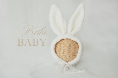 Baby bunny rabbit newborn hat photo prop.