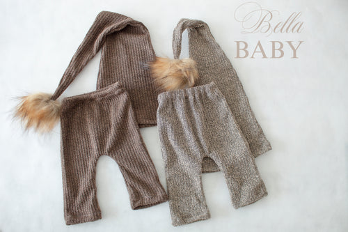 Newborn pants and sleepy hat set