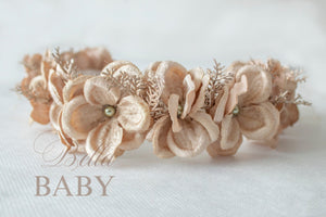 bella-baby-photo-props - Gold Christmas Baby Girl Flower Crown