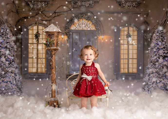bella-baby-photo-props - Red Christmas Sitter Lace Dress Photo Prop.