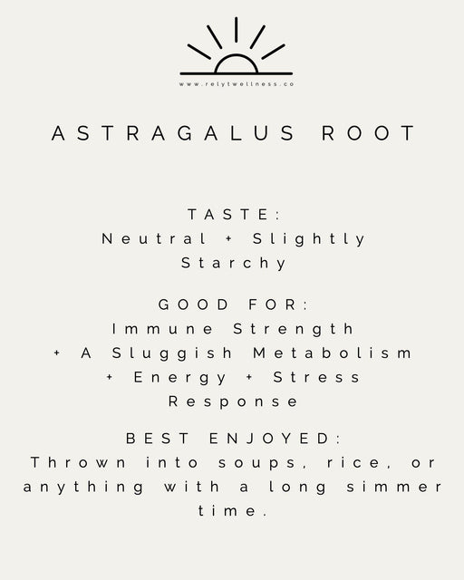 Astragalus Root Slices (For Cooking) - RELYT