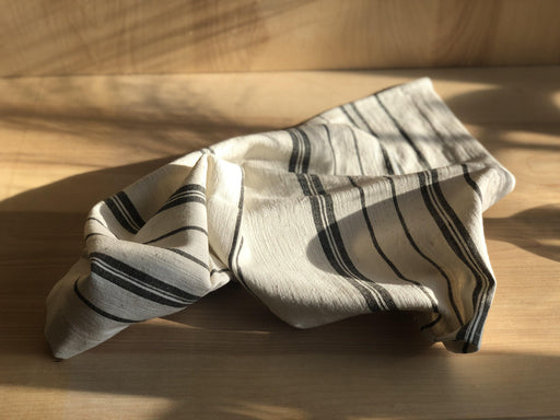 Avery Tea Towel - RELYT Avery Tea Towel Handwoven from Creative Women's signature Ethiopian cotton, the Avery tea towel collection features classic stripes and a clean sewn edge. Ultra-soft hand-spun cotton that will become even more absorbent with each wash and dry. Perfect in every kitchen, these tea towels are the ultimate gift for your favorite host. Sewn ends. Machine wash and dry. Made in Ethiopia 17'' x 24''