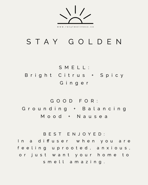 Stay Golden Diffuser Blend - RELYT
