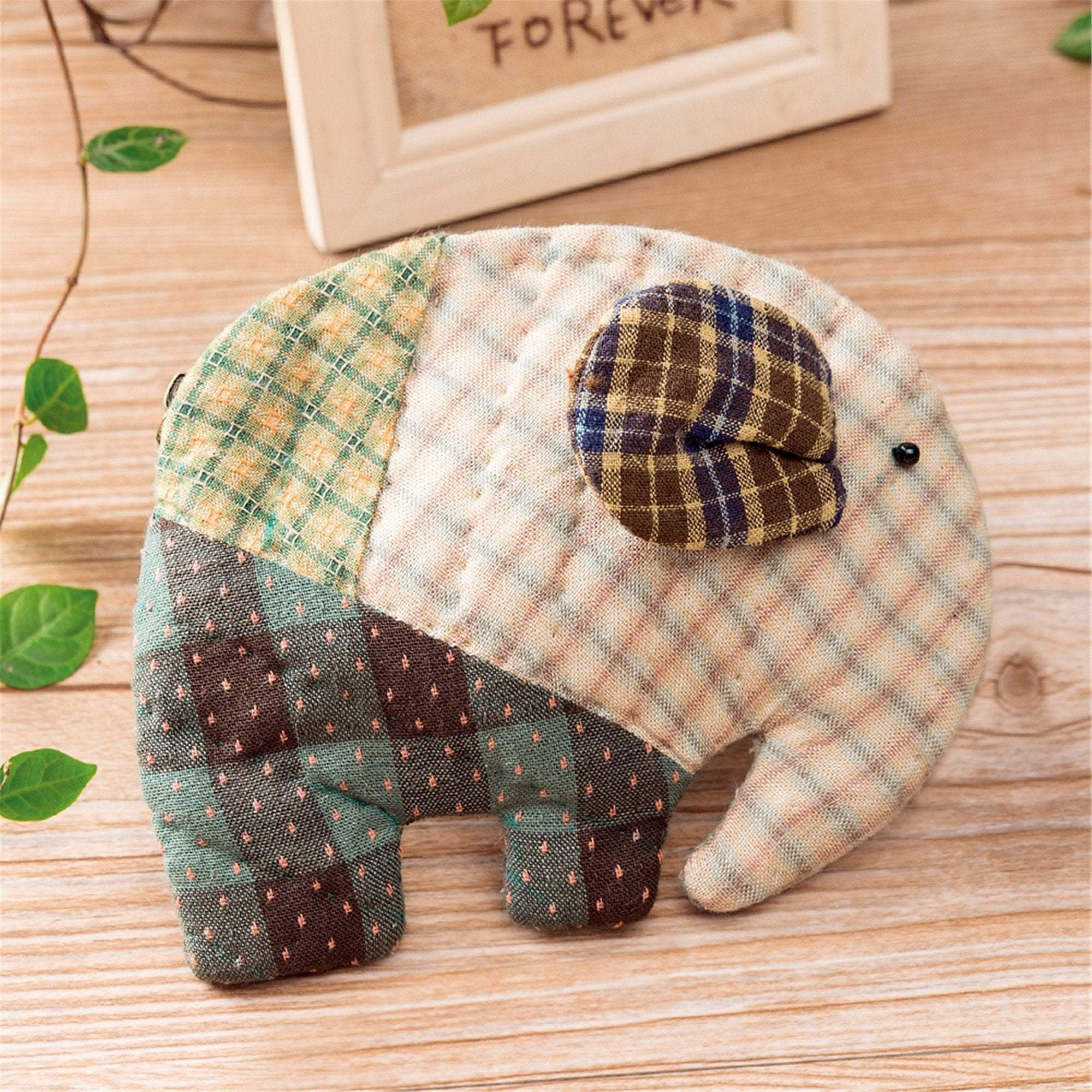 Coin Purse Making Kits - Elephant Pattern 2 - Sewing material kit - Oh My Crafts