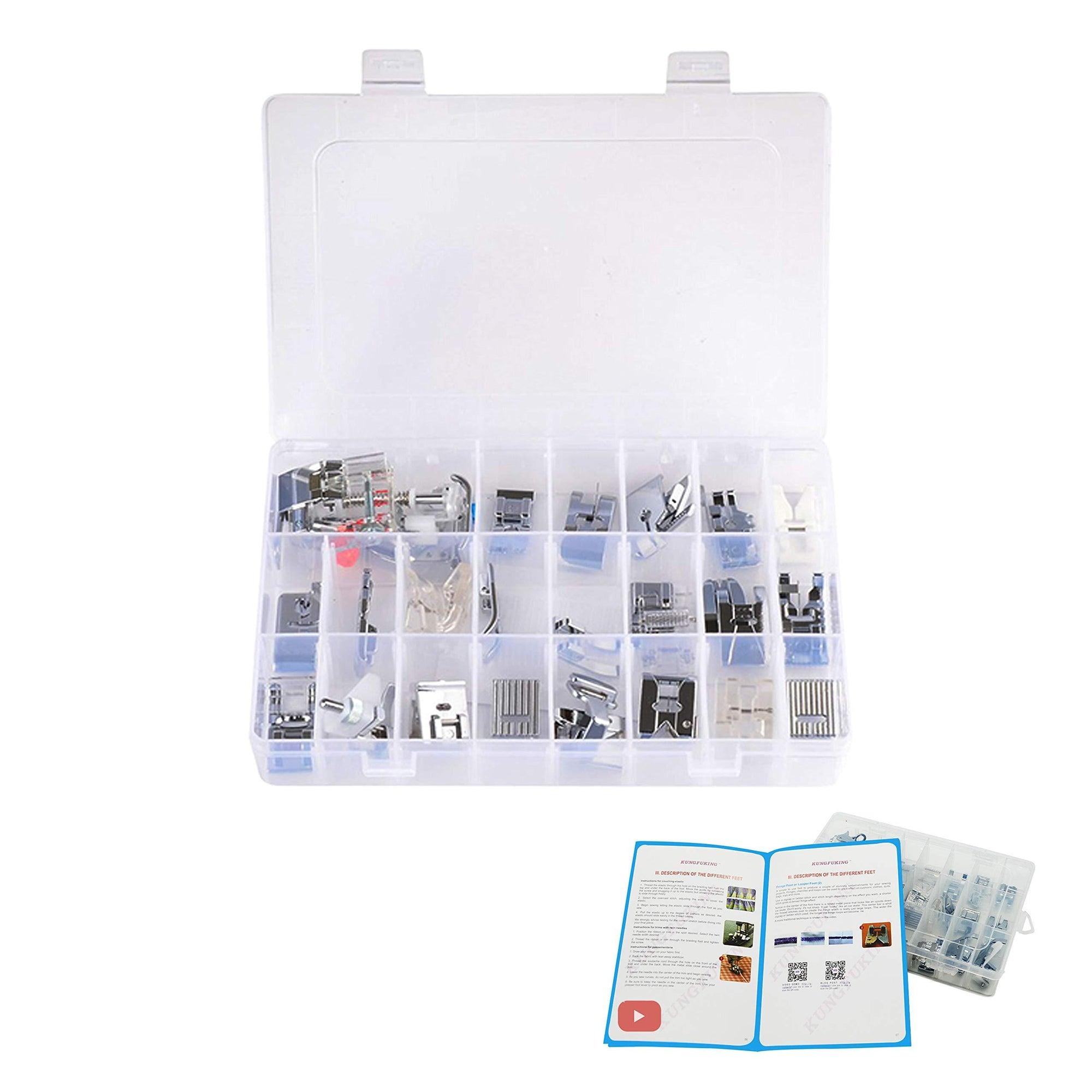 Presser Foot Set 32 PCS - Sewing - Oh My Crafts