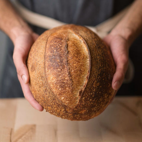 Sourdough loaf from Rebel Bread Bakery, a local bakery and bake school in Denver, CO