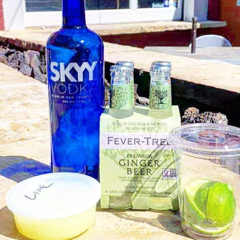 Build your own mule kit from Tap & Burger and Skyy Vodka, available for curbside pick-up