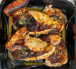 Beer Can Smoked Chicken from Tap & Burger Restaurants available at Farmer's Market & for Curbside Pick-up in Denver. Make at home meal kits also available.
