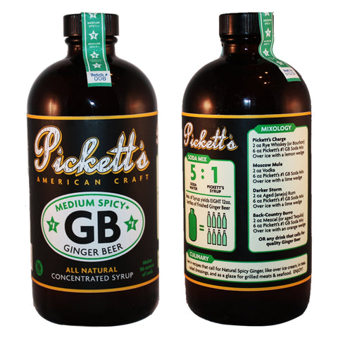 All-Natural Ginger Beer Concentrate from Picketts American Craft