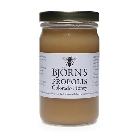 Bjorns Colorado locally harvested, propolis honey; online order & curbside pick-up