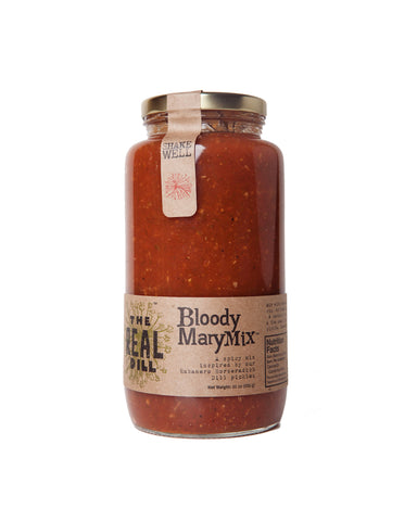 Bloody Mary Mix by the Real Dill available at Farmer's Market & for Curbside Pick-up in Denver. Make at home meal kits also available. Shop Local!