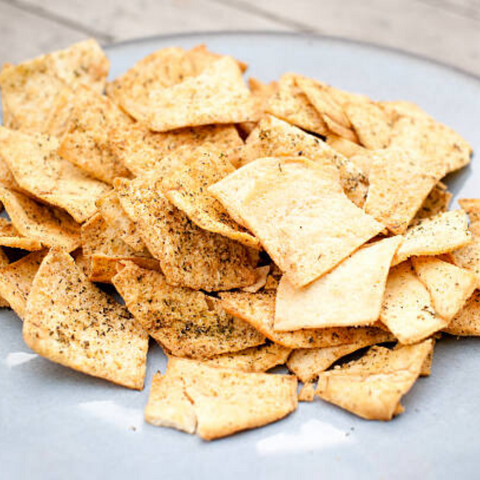 12oz bag of pita chips from Ash'Kara available from farmers market