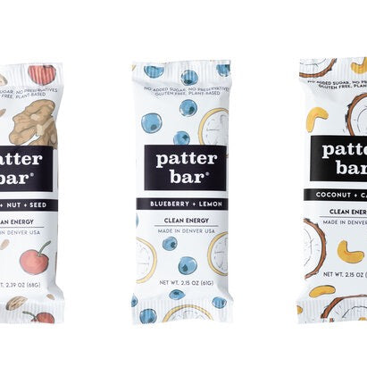 Clean Energy Bars from Patter Bar, a family-owned company, available at farmer's market via online ordering & curbside pick-up. More meal kits from local restaurants also available. Shop local!