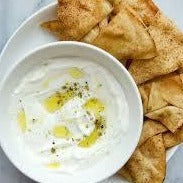 Labneh Dip with Pita Chips from Ash'Kara in Denver Colorado