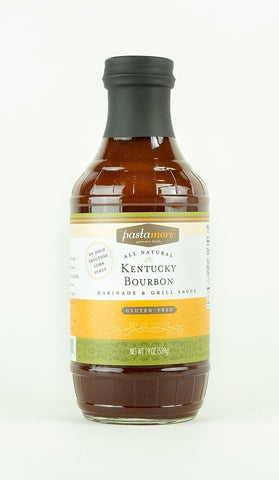 Pastamore Kentucky Bourbon Marinade & Grill Sauce available at farmers market or curbside pick-up
