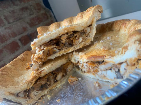 Pork Green Chili Pie from Hinman's Bakery available for Curbside Pick-up