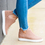 Suremoda Slip-On Round Toe Breathable Sneakers