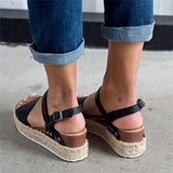 Suremoda Espadrille Open Toe Thick Bottom Sandals