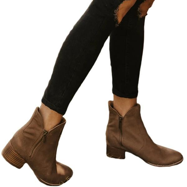 Suremoda Woman Fashion Pointed Bare Boots