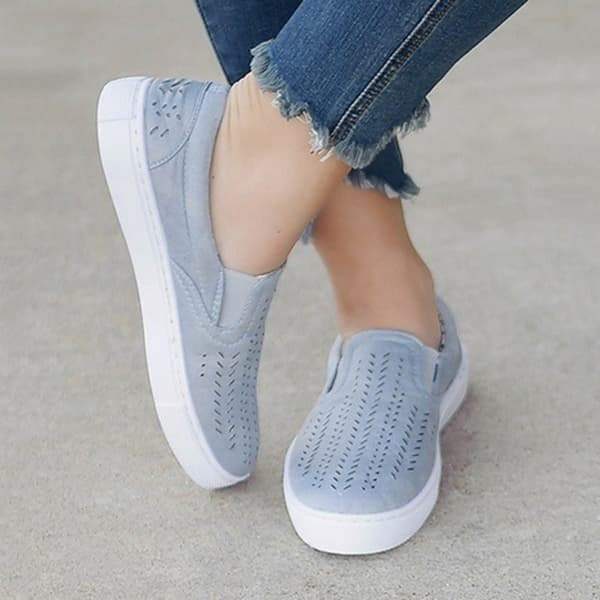 Suremoda Hollowed Out Slip On Canvas Sneakers