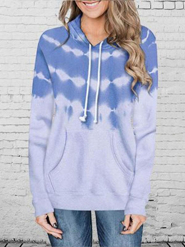 Suremoda Fall  Fashion Gradient Printed Hoodie