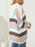 Suremoda Colorful Striped Casual Hoodie