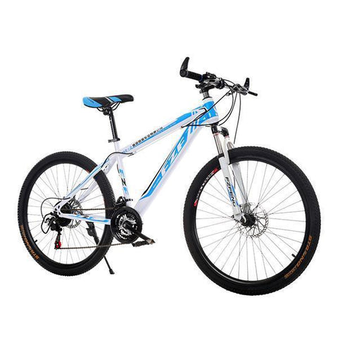 24 Inch Mountain Bike For Youth And Adult, Double Disc Brake Bicycle Variable Speed Bicycle