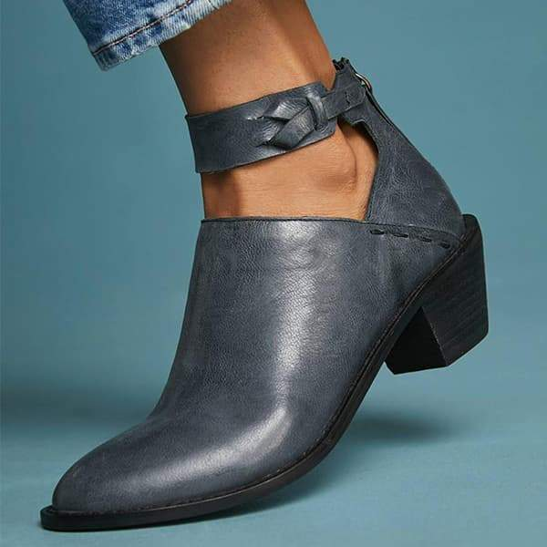 Suremoda Daily Zipper Chunky Boots