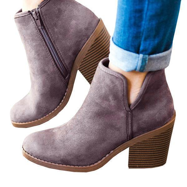 Suremoda Suede Chunky Boots