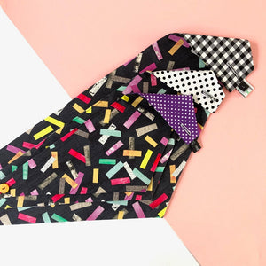 Black confetti dog bandana